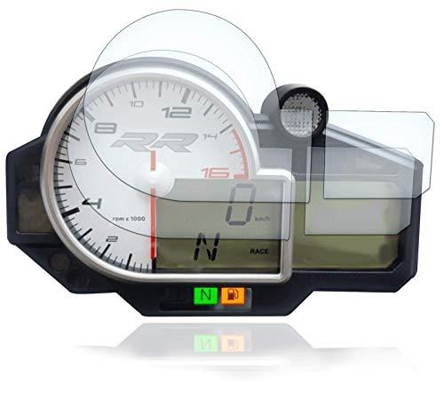 [2 Stück] Displayschutzfolie Tacho Schutzfolie geeignet für BMW S1000RR 2009+ 2x Ultra Clear