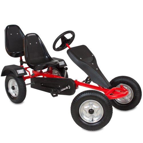 TecTake Go Kart Coche con Pedales - disponible en diferentes colores - (Rojo)