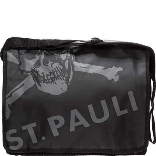 - Bandolera clásica con calavera del FC St. Pauli (37 x 30 x 13 cm)