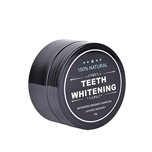 Aktivkohle-Zahnweiß-natürlicher Zahn-Aufheller Aktiviertes Bambuskohle-Zahnpasta-Pulver eingestellt mit 1 Bambusholzkohlenzahnbürste für das Zahnweiß, Freshens-Atem