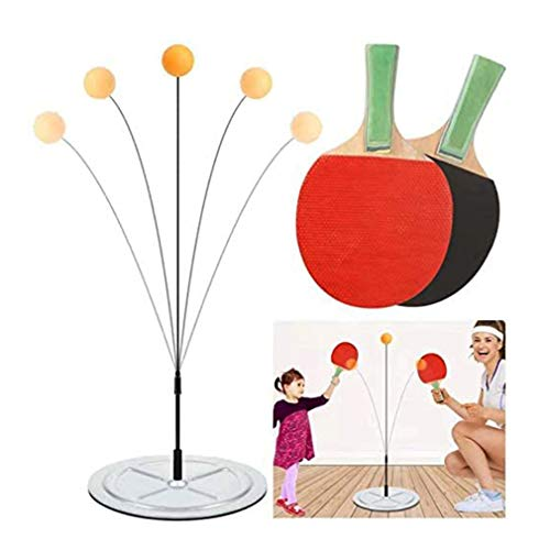 Fantastic Deal! HWUKONG Ping Pong Trainer Table Tennis Training Elastic Soft Shaft Trainer Ping Pong...