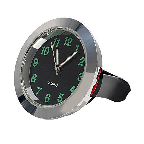 Car Clock Dashboard Decoration Car Air Vent Clip Clock Ornaments Silver
