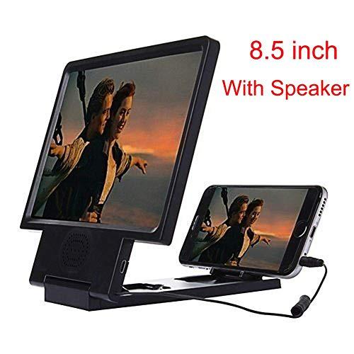 Bildschirm-vergrößerungsglas Des Handy-3d, 8.5inches Film-video-verstärker-klammer Faltbarer Standplatz-halter Für Iphone Alle Anderen Intelligenten Telefone - Mit Sprecher-funktion