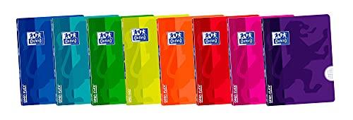 Oxford, Libretas A4, Tapa Plástico, Pack de 10 Unidades, 48 Hojas, Cuadrícula 4x4