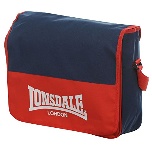 LONSDALE LONDON-Borsa Messenger, colore: rosso/blu Navy Flight-Borsa a tracolla