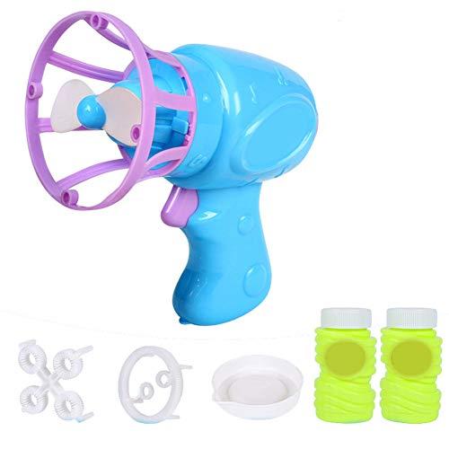 Ertyui Seifenblasen-Maschinenventilator für Kinder, elektrisch, mit Mini-Ventilator-Funktion blau