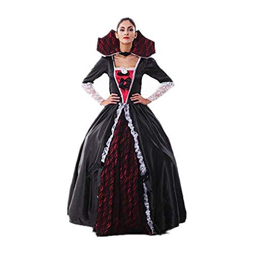 XCAYBH - Disfraz de vampiro para Halloween, novia, vestido de fiesta de bruja, reina de Halloween