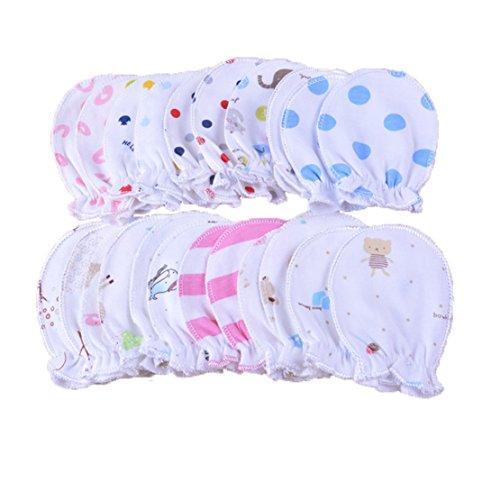 5 pares recién nacido Baby Manoplas säugling Pastel