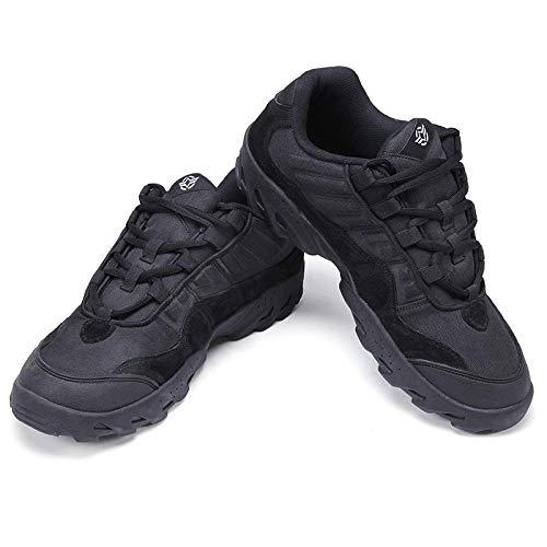 Aerlan Trainer Wanderschuhe,Zapatillas Deportivas Zapatos para Correr,Botas de Combate de Corte bajo Antideslizantes Transpirables de Malla para montañismo Zapatos de Senderismo-Black_39#