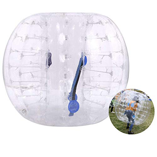 Hurbo Inflatable Bumper Ball Bubble Soccer Ball Giant Human Hamster Ball for Adults and Kids (White)