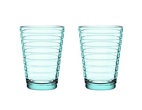 Iittala Aino 005600SET Aalto Lot de 2 verres Vert d'eau 33 cl