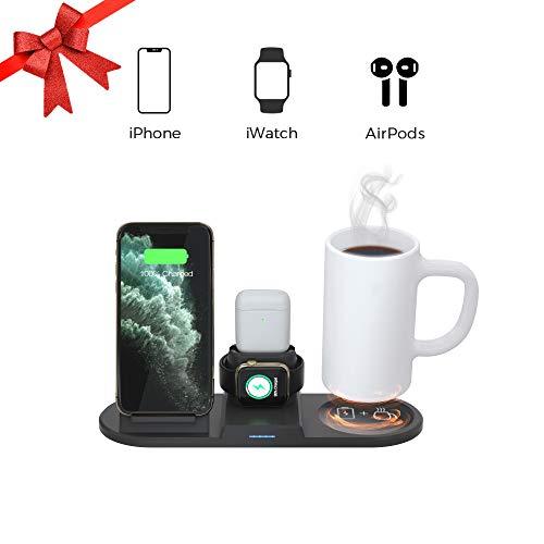 Aidbot Multifunction 4 in 1 Coffee Mug Warmer Wireless Charger,Qi Wireless Charging Stand Dock...