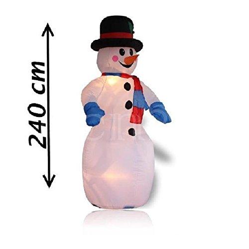 Christmas Gift - Muñeco de Nieve Hinchable con Ventilador, 240 cm, único