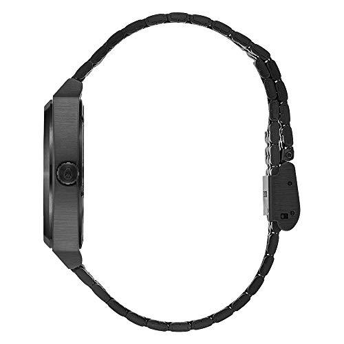 Nixon Unisex Erwachsene Digital Quarz Uhr mit Edelstahl Armband A1130-001-00
