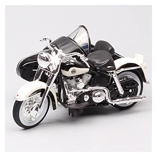 El Maquetas Coche Motocross Fantastico 1:18 para Harley 1958 FLH Duo Glide Lado Tres Ruedas Simulación Aleación Modelo De Motocicleta Colección Regalo Juguete Coche Regalos Juegos Mas Vendidos