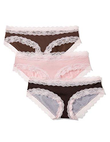 Marca Amazon - IRIS & LILLY Culotte para Mujer, Pack de 3