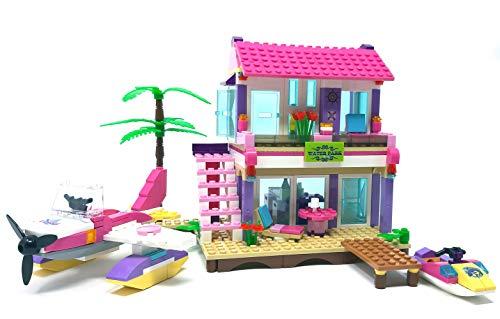 Modbrix Bausteine Friend Haus, Ferienhaus mit Jetski, Wasserflugzeug, 423 Teile