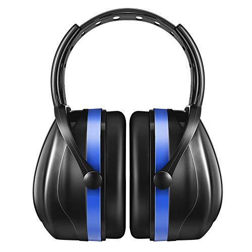 【改良2代】AVANTEK 防音イヤーマフ 遮音値36dB ANSI S3.19&CE EN352-1認証済み 聴覚保護 超弾力性ヘッドバンド (ブルー)
