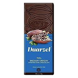 DAARZEL 70% Intense Dark Chocolate - Indian Origin Vegan and Gluten Free
