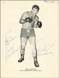 A4 Rocky Marciano Autograph, Signed Photo Print Approx Size 11X8 INCHES