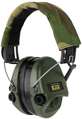 Sordin Supreme PRO X - actieve gehoorbescherming SOR75302-X-G elektronische gehoorbescherming incl. gelkussen camoband groene cups