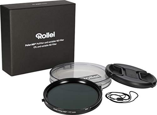 Rollei Polar ND+ Rundfilter 2-in-1 Kombination aus variablem ND-Filter(ND2 - ND32) und Polarisations-Filter (CPL-Filter), 72mm Durchmesser