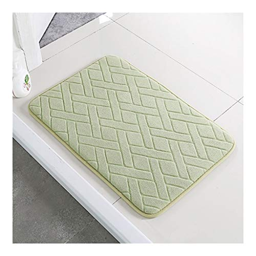 Carpet Memory Foam Coral Fleece Non Slip Erker Mat, Super Soft Deurmat Buiten Extra Duurzaam (Color : Green, Size : 100 * 80cm)