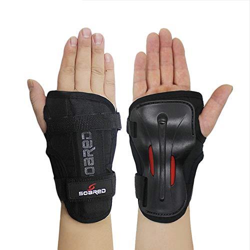 GES Ski-Handschützer Lange Handgelenkschützer Rollschuhhand Handschuhhandschützer Harte Hand Unterst (Schwarz, L)