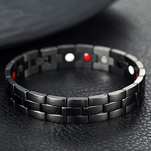 jieGREAT Therapeutic Energy Healing Bracelet Stainless Steel Magnetic Therapy Bracelet