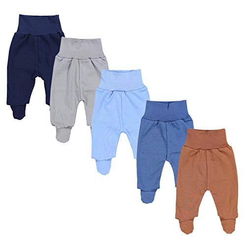 TupTam Pantalón con Pies de Bebé Paquete de 5 pies, Niño 4, 56