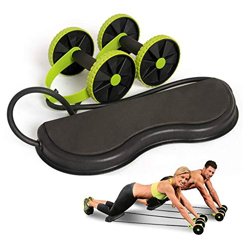 Roller Wheel Abdominal Trainer, Abdominal Muscle Trainer Wheel, Workout Tool Resistance Band, Arm Waist Leg Exercise Fitness Sport Pull Rope