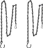 Cadenas de Cesta Colgante,Conjuntos Cestas de Flores,Cadena de macetero, Cadena de Linterna, Paquete de 2 Cadenas para Colgar de 35 Pulgadas para comederos de pájaros, jardineras, linternas y Adornos