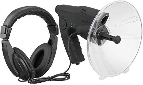 MAQRLT Micrófono Direccional/Micrófono Parabólico, Monocular con Aumento De 8X, Amplificador De Sonido, Micrófono Parabólico Monocular X8 Ear Bionic Aves De Larga Distancia Telescopio Escuchando
