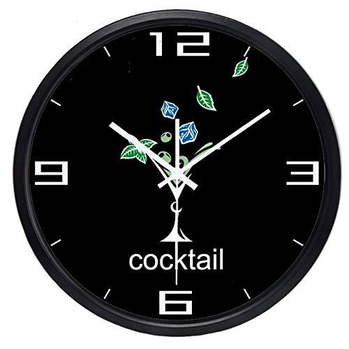 ONETOTOP Copa de cóctel cuelga de la Familia y el jardín Nueva Respuesta antigoteo Barra de Silencio Antigua Hermosa Ronda Reloj Colgante | Omega B431B 35 * 35cm