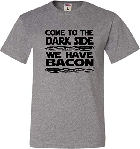Go All Out Small Oxford Adult Come to The Dark Side We Have Bacon T-Shirt