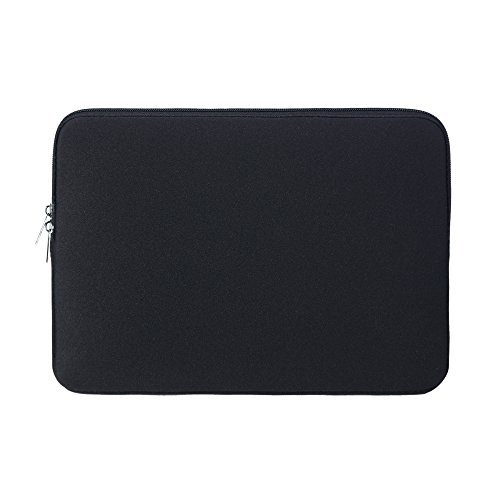 RAINYEAR 13 Inch Laptop Sleeve Protective Case Soft Carrying Bag Zipper Cover Compatible with 13.3 MacBook Air Pro Retina Touch Bar for 13' Notebook Computer Tablet Ultrabook Chromebook(Black)