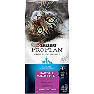 Purina Pro Plan Hairball Dry Cat Food, FOCUS Hairball Management Chicken & Rice Formula - 16 lb. Bag