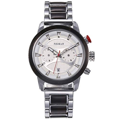 Smartwatch Reloj para Hombre, Reloj De Esfera Grande con Función Luminosa, Reloj De Cuarzo con Calendario, Impermeable