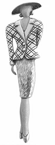 Art Deco Damen Brosche Mannequin 925 Silber stylish