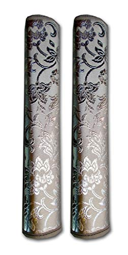 SA Handlooms Multi-Purpose Refrigerator Door Handle Covers - 2 Pair (Silver 2)