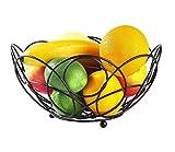 Tazón Plato de fruta de hierro forjado negro, cocina casera simple Cesta de comida decorativa Pan de fruta seca Cesta de almacenamiento de dulces vajillas hogar, tazón retro (Color : White)