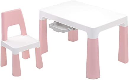 LIANGJUN Table Chair Sets For Kids Children s Table Stool Writing Desk Kindergarten Baby Living Room Easy Clean  Strong Bearing  Colors  Color Pink  Size
