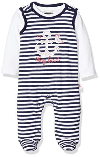 Salt & Pepper Baby-Mädchen 03224201 Strampler, Blau (Navy 498), (Herstellergröße: 56)