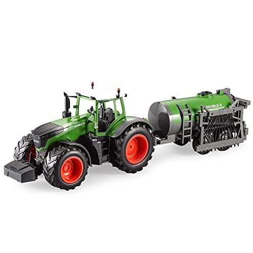 Legxaomi RC Truck Farm Tractor 2.4G Control remoto Camión de agua/rastrillo 1:16 alta simulación gran construcción vehículo niños juguetes Hobby Withwatertruck
