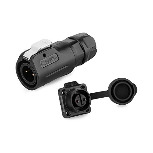 Waterproof m12 3pin Connector, IP67 Waterpoof Power Connector, Black Plastic Industrial Cylindrical Connector for Marine System (3pin Set)