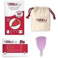 Copa Menstrual Sileu Cup Classic - Alternativa ecológica y natural a tampones y compresas - Bolsa de regalo - Talla S, Morado