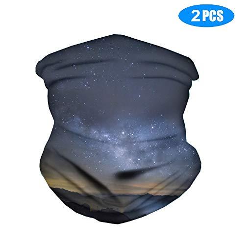 Multifunktionale Kopfbedeckung, Nackenwärmer/Gesichtsmaske, verhindert Tröpfchen, atmungsaktiv, weicher Schatten und Sonnenschutz, für Damen und Herren, 2 Stück L 6