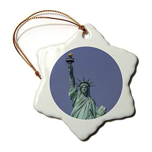 Fhdang Dekofigur Freiheitsstatue, Souvenirs, Schneeflocke, Porzellan, doppelseitig, 7,6 cm