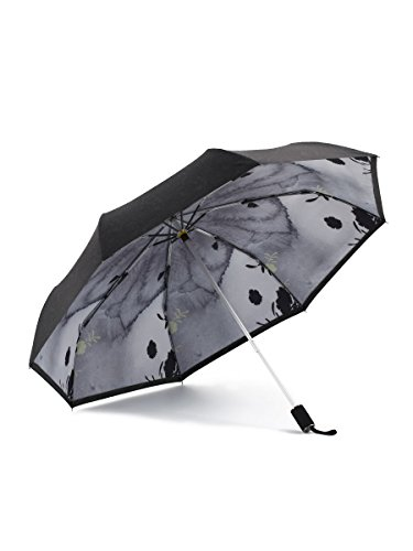 Kobold Travel Compact Double Layers Umbrella With 3 Fold Best Windproof Waterproof Anti-UV Lightweight For Easy Carry -Unisex.