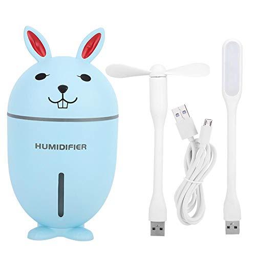 Fdit1 3-in-1 multifunctionele ultrasone luchtbevochtiger nachtlampje met mini-ventilator USB-kabel voor thuis MEERWEG AANSLUITING Yezer-eu